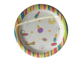 Make-up Pamper Spa Party Tween Sleepover 18cm PAPER PLATES 8pc