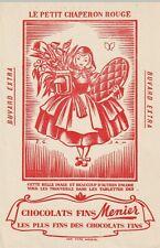 """buvard chocolats fins menier """" le petit chaperon rouge """""""