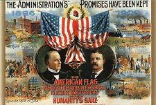 President McKinley & Theodore Roosevelt Republican Campaign US Election Postcard