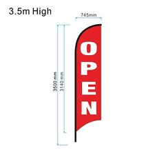 3.5m OPEN Flag Set / Outdoor Feather Flag / Flag Banner Set - Ready to Ship!