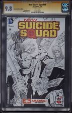 NEW SUICIDE SQUAD 9 SKETCH VARIANT CGC SS 9.8  * RARE * NEW 52 * JIM LEE MOVIE