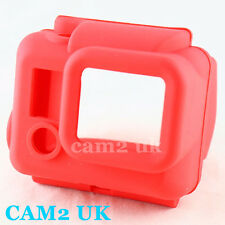 New Red Soft Silicone Rubber Case Cover Protector for GoPro Hero HD 3 camera UK
