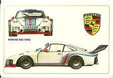 Carte Porsche 935 Martini course automobile Le Mans Sport Proto trading card