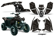 Atv Grafik Kit Sticker für Polaris Scrambler 2010-2012 Reaper Schwarz
