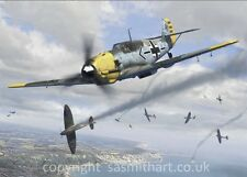 BATTLE OF BRITAIN WERNER MOLDERS BF109 POSTCARD LUFTWAFFE ACE PRINT JG51 KC