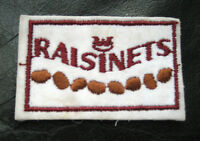 "RAISINETS EMBROIDERED SEW ON PATCH CHOCOLATE COVERED RAISINS CANDY 3 1/4"" x 2"""