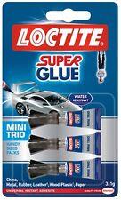 Loctite Super Glue - Mini Trio Adhésif - 3 X 1g Tubes