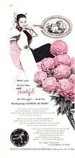 1947 FTD Flowers By Wire Woman Calling Florists Telegraph PRINT AD