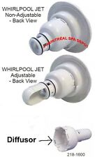 Waterway Whirlpool Power Storm spa jet DIFFUSER part# 218-1600 white back part