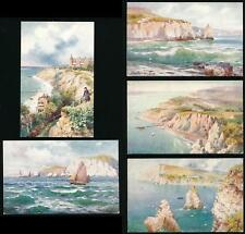 ISLE of WIGHT TUCKS OILETTE 7572 FRESHWATER 5 DIFFERENT...ARTIST WIMBUSH