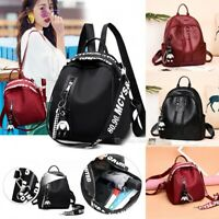 Fashion Women Girl Small Backpack Travel Black Oxford Handbag Shoulder Bag Gift