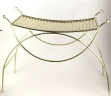 Mid Century Modern Gold Tone Vanity Bench Foot Stool ASK FOR SHIPPING QUOTE