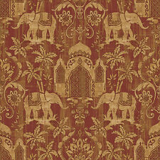 G67361 - Indo Chic Elephant Taj Mahal Beige Red Galerie Wallpaper