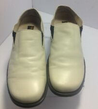 Stacy Adams Men's leather Loafer/Slip on white/beige 11M UNIQUE