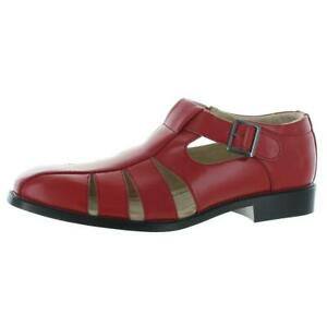 Stacy Adams Mens Red Fisherman Sandals Shoes 8.5 Medium (D) BHFO 5555
