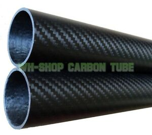 1pc 3k Carbon Fiber Tube OD 55mm x ID 53mm x Length 1000mm Roll Wrapped Pipe
