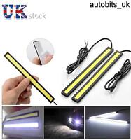 2x 17cm Waterproof Cob Led Strip Daytime Running Drl Fog Driving White Lights N2