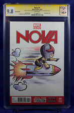 NOVA & ROCKET RACCOON (2013) CGC 9.8 wraparound Cover Sketch by AGNES GARBOWSKA