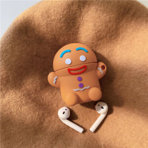 Gingerbread Man Caribou Silicone Headphone Cases for Apple Airpods 1 2