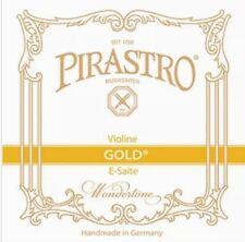 Pirastro 4/4 Violin Evah Pirazzi Gold Medium Gauge E String - Ball End