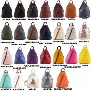 Vera Pelle Genuine Soft Italian Leather Backpack / Rucksack fashion Shoulder Bag