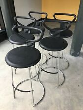 5 Nardis Stools by Nobu Tanigawa for Fasem Tall Chairs Mid Century Modern Bohous
