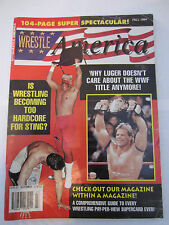 WRESTLE AMERICA FALL 1994 WRESTLING MAGAZINE STING LEX LUGER RAVISHING RICK RUDE