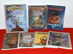 Dungeons & Dragons Lot Forgotten Realms Campaign Sunless Citadel Sword Fist Book