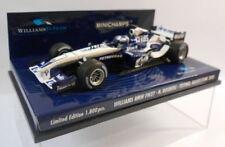 Modellini statici di auto da corsa Formula 1 bianco per BMW scala 1:43