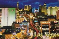 Las Vegas Strip Casino NV 100 Postcards Mirage Danny Gans MGM Paris Harrahs