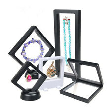 S/M/L Plastic Black Floating Suspended Display Stand Holder Jewelry Ring Case