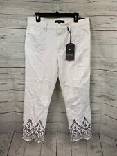 Women's Tommy Hilfiger Indian Summer Casual White Denim Comp &99.50  Size 12