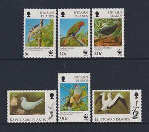 Pitcairn Island - 1996, Endangered Species, Local Birds set - MNH - SG 504/9