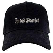 Judas Iscariot cap hook and loop closure hat black metal nihilism