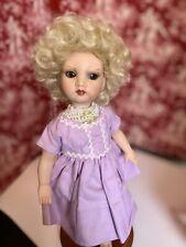 "100/% mohair Doll Wig Sapphire 5-6"" Auburn Curls cascade /& tendrils Global"