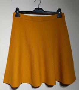 Oasis Yellow Flippy Skirt Size M Medium Approx 12 Cotton Blend Knit Style