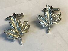From English Modern Pewter Maple Leaf Tg236 Cufflinks Made