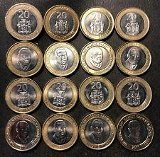 Old Jamaica Coin Lot - 16 AU/UNC Bi-Metal 20 Dollar Coins - Lot #812