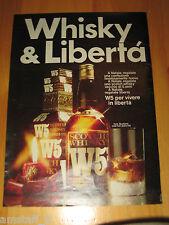 W5 DOUBLE-U-FIVE WHISKY SCOTCH=ANNO 1973=PUBBLICITA=ADVERTISING=