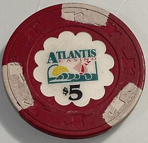 ATLANTIS WORLD CASINO $5 Casino Chips ST. MAARTEN 3.99 Shipping