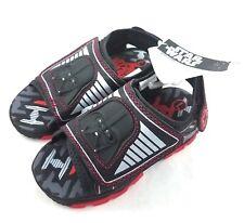 Star Wars Darth Vader Light-Up Toddler Sandals Shoes Hook Loop Size L 9-10 New