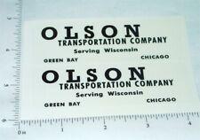 Tootsietoy Olson Transportation Company Semi Truck Stickers     TT-007