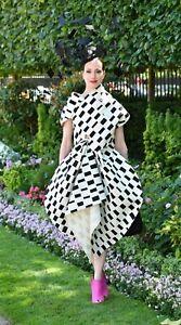$2110 Junya Watanabe + Marimekko Asymmetric Midi Dress XS Iso Nopp Canvas Bubble