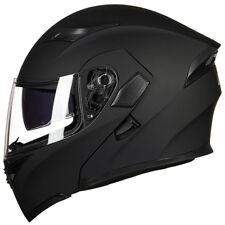 Motorcycle Dual Visor Flip up Modular Full Face Helmet DOT Approved 6 Colors