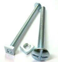 100mm-180mm Long M8 Roofing Hook Bolts with Square Nut Bag of 50