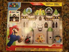 "Nintendo Super Mario Deluxe Bowser's Castle Playset & 2.5"" Action Figure"