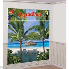 Amscan Paradise Palm Scene Setter Hawaiian Luau Party Photo Wall Decorating Kit