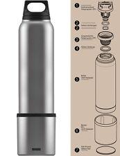SIGG Thermosflasche 1,0 L Hot & Cold Flasche mit Becher Isolierflasche Silber