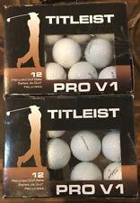 Titleist Pro V 1 Recycled Golf Balls 2 Dozen - (24 golf balls) White
