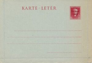 ALBANIA 1943 POSTAL STATIONERY LETTERCARD WORLD WAR TWO WW2